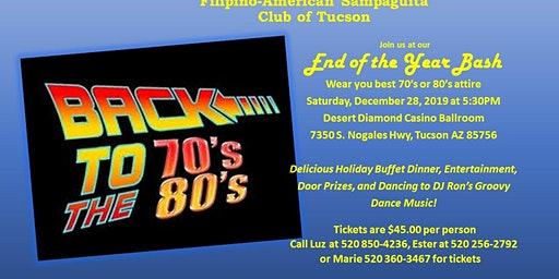 FASCOT End of the Year Bash Back to the 70's and 80's