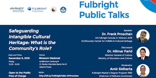 Fulbright Public Talks on Intangible Heritage