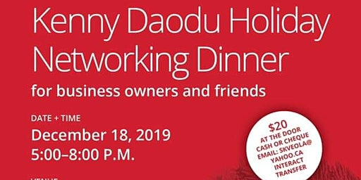 Kenny Daodu Holiday Networking Dinner
