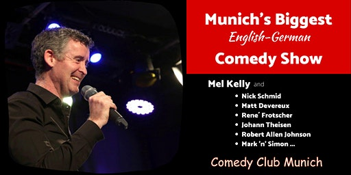 Munich's Biggest English-German Comedy Show - 8. Februar 2020