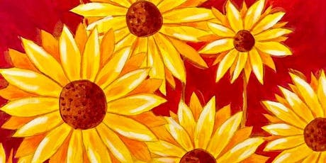 Paint, Wine & Nibble - Sunset Sunflowers tickets