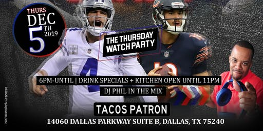Cowboys vs Bears WatchParty