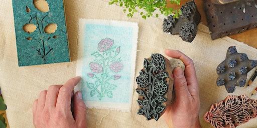 Mindfulness & Printmaking Workshop (Hand-block Printing)