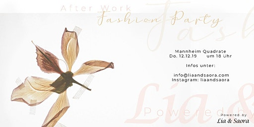 After Work Fashion Party