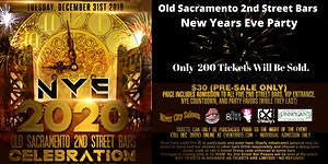 New Years Eve Celebration 2020 in Old Sacramento!
