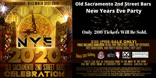 New Years Eve Celebration 2020 in Old Sacramento!