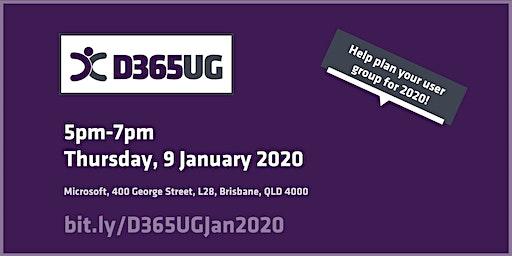 Brisbane Dynamics 365 User Group 2020 Planning