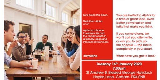 Alpha Course - Preston, Lancashire