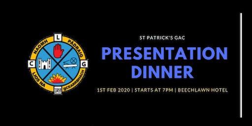 St Patrick's Gac - Presentation Dinner