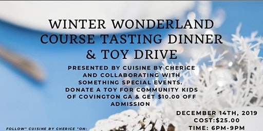 Winter Wonderland Course Tasting and Toy Drive