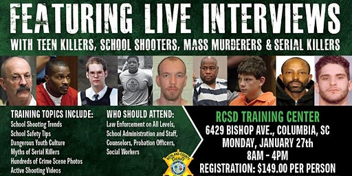 Profiling Teen Killers, School Shooters, Mass Murderers and Serial Killers by Phil Chalmers-Columbia, South Carolina - January 27, 2020