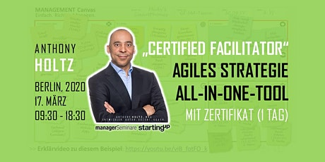 "Agiles Strategie-All-In-One-Tool.  ""CERTIFIED FACILITATOR"" mit Zertifikat Tickets"
