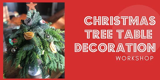 Childrens Christmas Tree Table Decoration Workshop