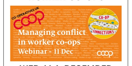 Webinar: Managing Conflict in Worker Co-ops tickets