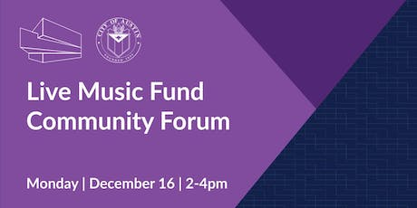 Live Music Fund Community Forum tickets