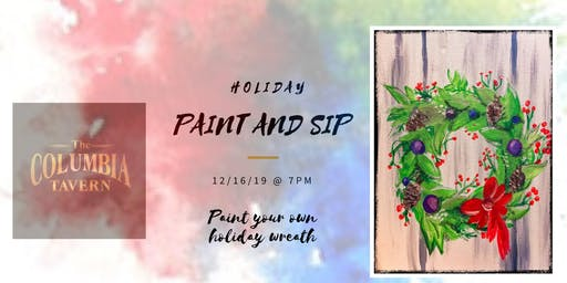 Paint and Sip - Paint Your Own Holiday Wreath