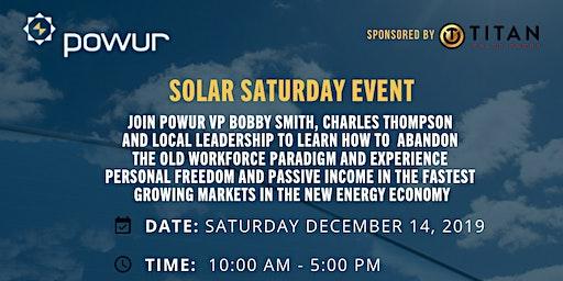 SOLAR SATURDAY TRAINING EVENT
