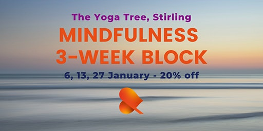 Mindfulness - 3-Week Block -Stirling - Individual Sessions