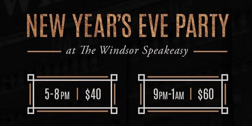 New Years Eve at The Windsor Speakeasy