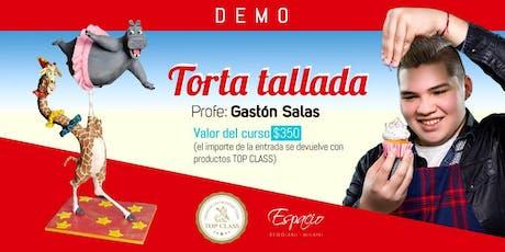 Demo de Torta Tallada MADAGASCAR con GASTON SALAS entradas