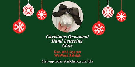 Christmas Ornament Hand Lettering Class tickets