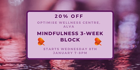 Mindfulness 3-Week Block - Alva - Individual Sessions tickets