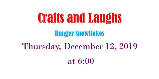 Crafts and Laughs Snowflake Hanger