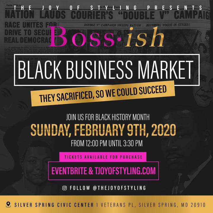 2020 Black History Month Events Nyc.Boss Ish Black Business Market