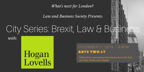 City Series: Brexit, Law and Business with Hogan Lovells tickets
