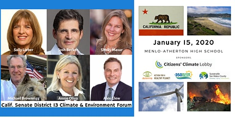 California Senate District 13 Climate and Environment Forum tickets
