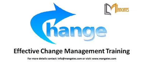 Effective Change Management 1 Day Virtual Live Training in Singapore tickets