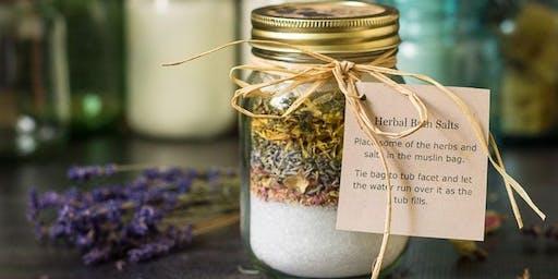 DIY Eco Gifts: Organic Herbal Epsom Bath Salts!