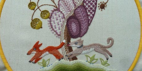 Introduction to Jacobean hand embroidery tickets