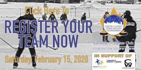 Pond Hockey 3-on-3 Tournament - 2020 Capital Classic tickets