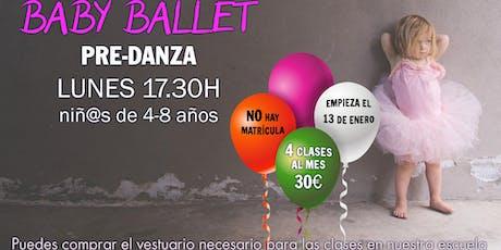 Clases de predanza infantiles (baby ballet) entradas