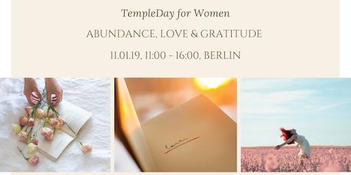 Abundance & Gratitude Workshop. TempleDay for Women with Alisa LoveSky