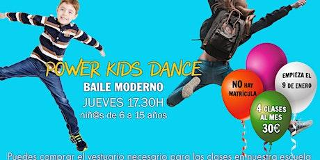 Clases de baile moderno (infantil) entradas