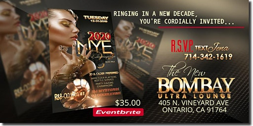 NEW YEAR'S EVE EXTRAVAGANZA-BOMBAY Ultra Lounge