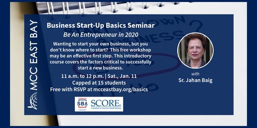 Business Start-Up Basics Seminar | Be An Entrepreneur in 2020
