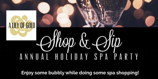 Shop & Sip Annual Holiday Spa Party 2019