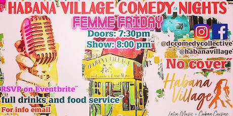 Habana Village Comedy Nights Femme Friday tickets