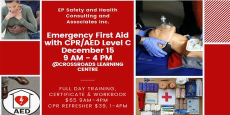Emergency First Aid with CPR/AED Level C December 15 tickets