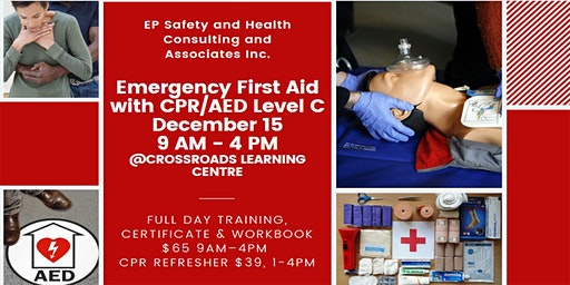 Emergency First Aid with CPR/AED Level C December 15