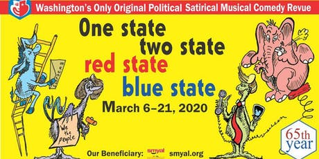"""Hexagon's 65th Annual Revue: """"One State, Two State, Red State, Blue State"""" tickets"""