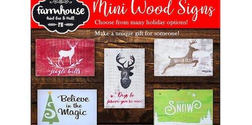 Santa's Workshop: Holiday Gift Making for adults (2019-12-08 starts at 3:00 PM)