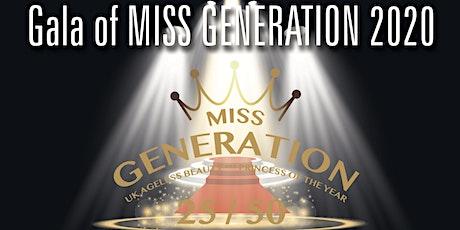 Gala of Miss Generation 2020 tickets