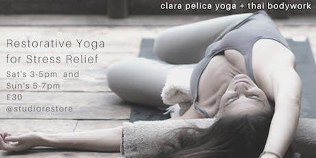 2hr Restorative Yoga for Stress Relief tickets