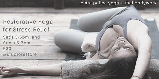2hr Restorative Yoga for Stress Relief