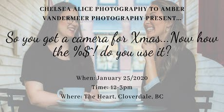 So you got a camera for Xmas...Now how the $%^! do you use it? tickets
