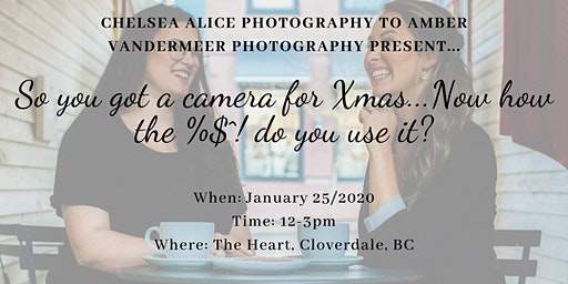 So you got a camera for Xmas...Now how the $%^! do you use it?